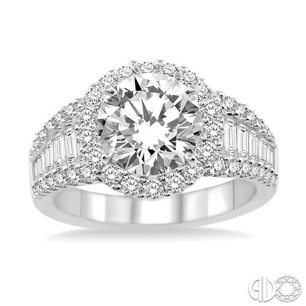 1 1/3 Ctw Diamond Semi-Mount Engagement Ring in 14K White Gold Image 2 Becker's Jewelers Burlington, IA