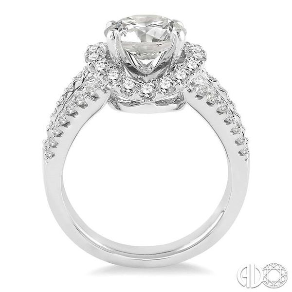 1 1/3 Ctw Diamond Semi-Mount Engagement Ring in 14K White Gold Image 3 Becker's Jewelers Burlington, IA
