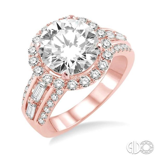 1 Ctw Diamond Semi-Mount Engagement Ring in 14K Rose Gold Becker's Jewelers Burlington, IA