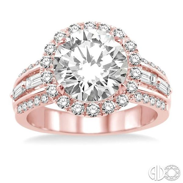 1 Ctw Diamond Semi-Mount Engagement Ring in 14K Rose Gold Image 2 Becker's Jewelers Burlington, IA