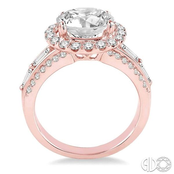 1 Ctw Diamond Semi-Mount Engagement Ring in 14K Rose Gold Image 3 Becker's Jewelers Burlington, IA
