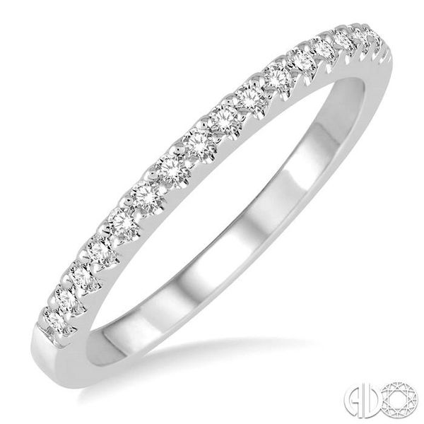 1/5 Ctw Round Cut Diamond Matching Wedding Band in 14K White Gold. Becker's Jewelers Burlington, IA