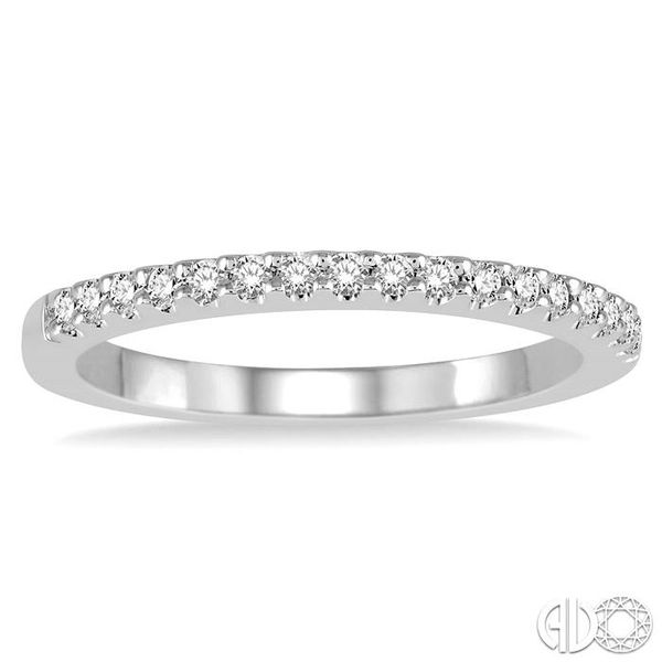 1/5 Ctw Round Cut Diamond Matching Wedding Band in 14K White Gold. Image 2 Becker's Jewelers Burlington, IA