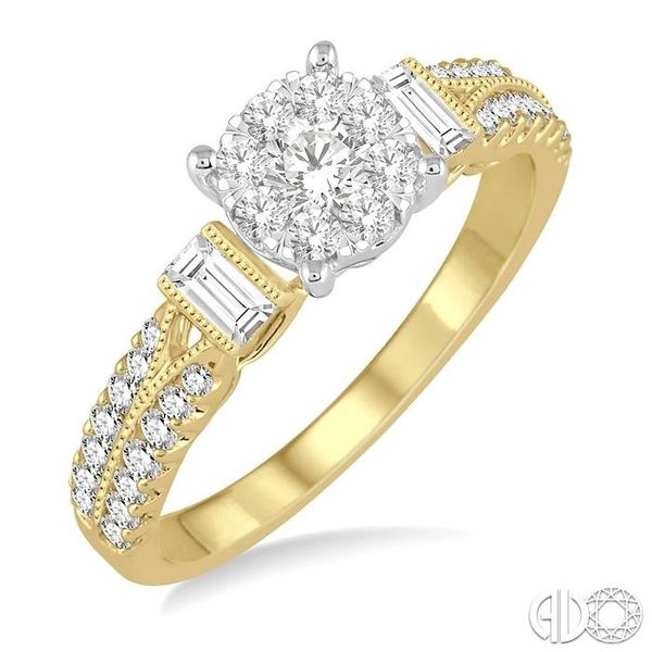3/4 Ctw Diamond Lovebright Engagement Ring in 14K Yellow and White Gold Becker's Jewelers Burlington, IA