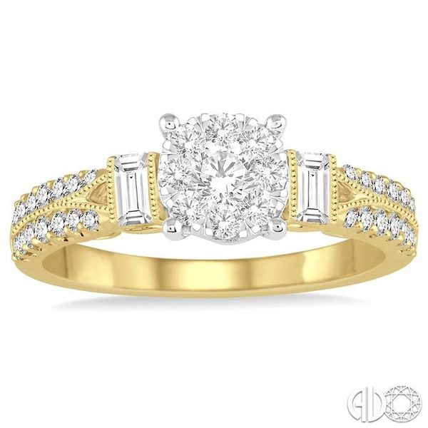 3/4 Ctw Diamond Lovebright Engagement Ring in 14K Yellow and White Gold Image 2 Becker's Jewelers Burlington, IA