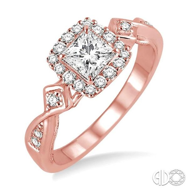 1/4 Ctw Diamond Semi-mount Engagement Ring in 14K Rose Gold Becker's Jewelers Burlington, IA