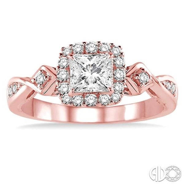 1/4 Ctw Diamond Semi-mount Engagement Ring in 14K Rose Gold Image 2 Becker's Jewelers Burlington, IA