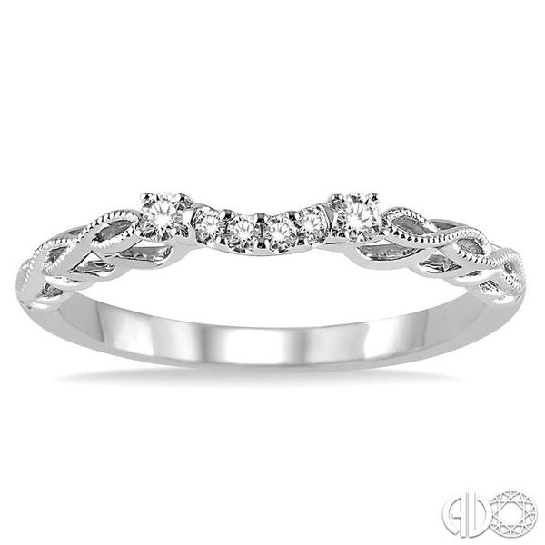 1/10 Ctw Round Cut Diamond Wedding Band in 14K White Gold Image 2 Becker's Jewelers Burlington, IA