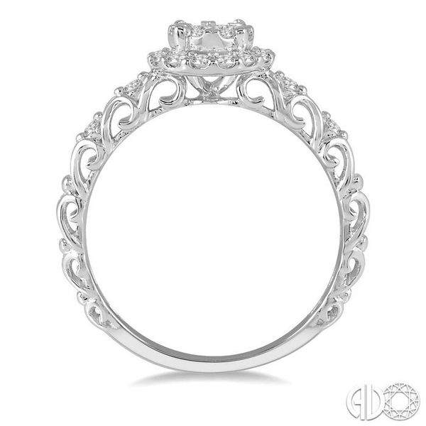 3/8 Ctw Round Cut Diamond Lovebright Engagement Ring in 14K White Gold Image 3 Becker's Jewelers Burlington, IA