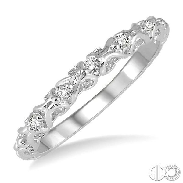 1/20 Ctw Round Cut Diamond Wedding Band in 14K White Gold Becker's Jewelers Burlington, IA