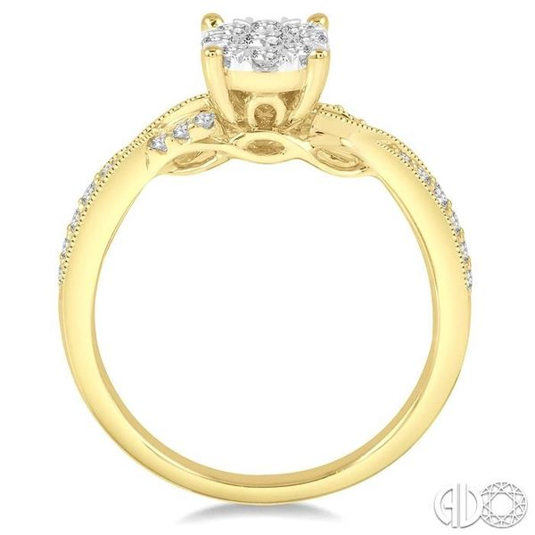 1/2 Ctw Round Cut Diamond Lovebright Engagement Ring in 14K Yellow and White Gold Image 3 Becker's Jewelers Burlington, IA