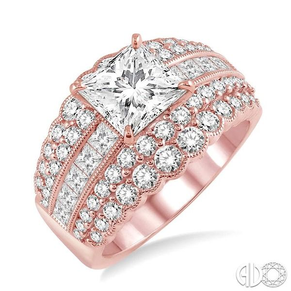1 7/8 Ctw Diamond Semi-mount Engagement Ring in 14K Rose Gold Becker's Jewelers Burlington, IA