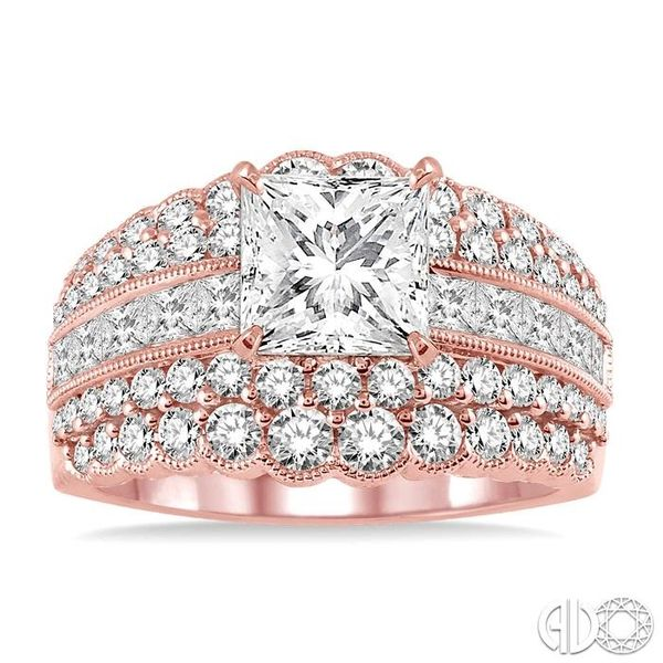 1 7/8 Ctw Diamond Semi-mount Engagement Ring in 14K Rose Gold Image 2 Becker's Jewelers Burlington, IA