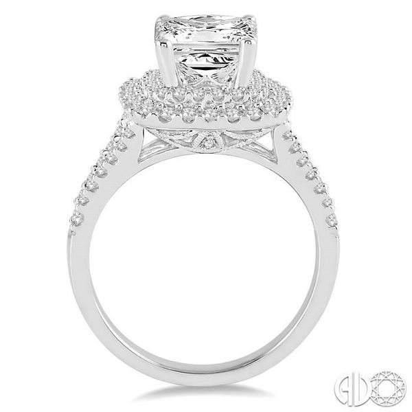 3/4 Ctw Diamond Semi-mount Engagement Ring in 14K White Gold Image 3 Becker's Jewelers Burlington, IA