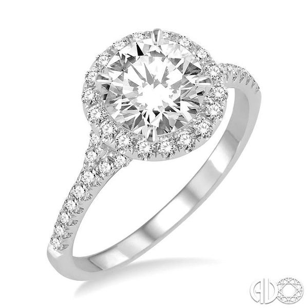 3/8 Ctw Diamond Semi-mount Engagement Ring in 14K White Gold Becker's Jewelers Burlington, IA