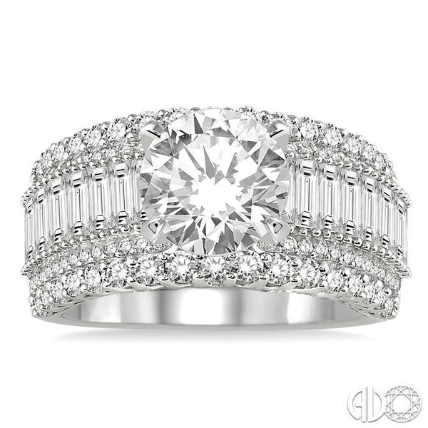 2 1/4 Ctw Diamond Semi-mount Engagement Ring in 14K White Gold Image 2 Becker's Jewelers Burlington, IA