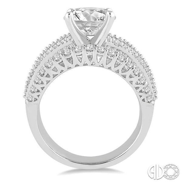 2 1/4 Ctw Diamond Semi-mount Engagement Ring in 14K White Gold Image 3 Becker's Jewelers Burlington, IA