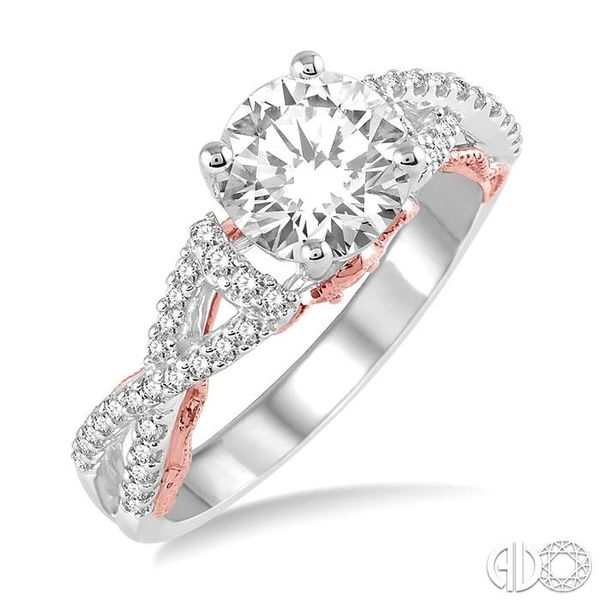 1/3 Ctw Diamond Semi-mount Engagement Ring in 14K White and Rose Gold Becker's Jewelers Burlington, IA