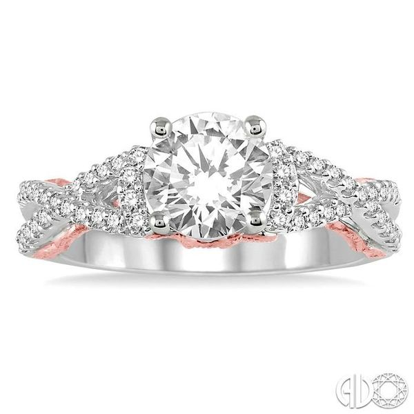 1/3 Ctw Diamond Semi-mount Engagement Ring in 14K White and Rose Gold Image 2 Becker's Jewelers Burlington, IA