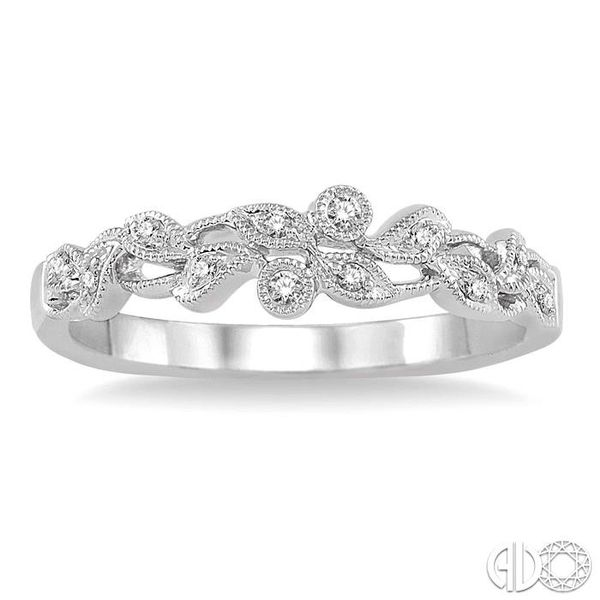 1/20 Ctw Round Cut Diamond Wedding Band in 14K White Gold Image 2 Becker's Jewelers Burlington, IA