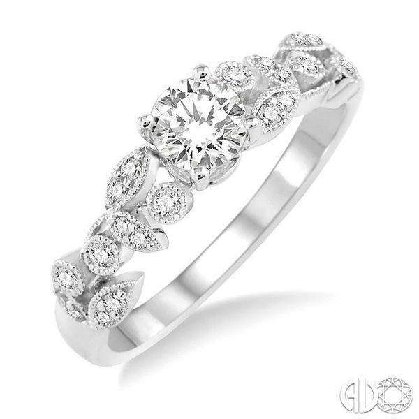 1/6 Ctw Diamond Semi-Mount Engagement Ring in 14K White Gold Becker's Jewelers Burlington, IA