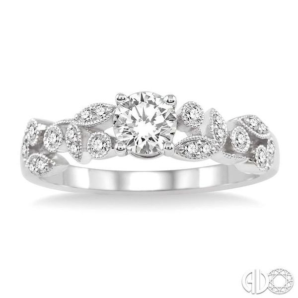 1/6 Ctw Diamond Semi-Mount Engagement Ring in 14K White Gold Image 2 Becker's Jewelers Burlington, IA