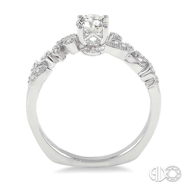 1/6 Ctw Diamond Semi-Mount Engagement Ring in 14K White Gold Image 3 Becker's Jewelers Burlington, IA
