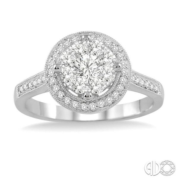 5/8 Ctw Lovebright Diamond Engagement Ring in 14K White Gold Image 2 Becker's Jewelers Burlington, IA