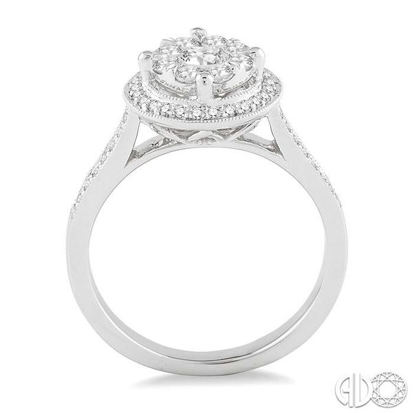 5/8 Ctw Lovebright Diamond Engagement Ring in 14K White Gold Image 3 Becker's Jewelers Burlington, IA