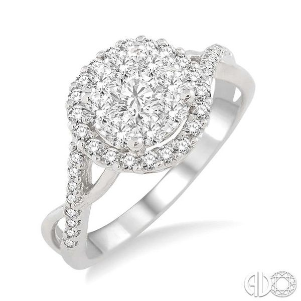 7/8 Ctw Lovebright Diamond Engagement Ring in 14K White Gold Becker's Jewelers Burlington, IA