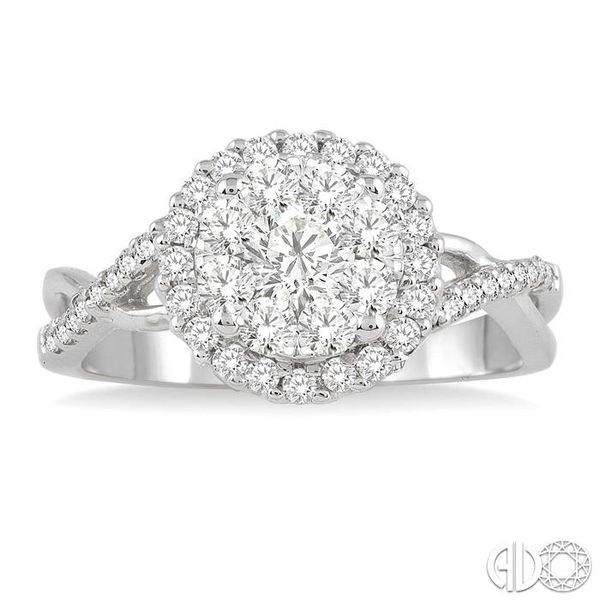 7/8 Ctw Lovebright Diamond Engagement Ring in 14K White Gold Image 2 Becker's Jewelers Burlington, IA