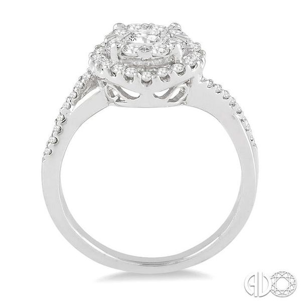 7/8 Ctw Lovebright Diamond Engagement Ring in 14K White Gold Image 3 Becker's Jewelers Burlington, IA