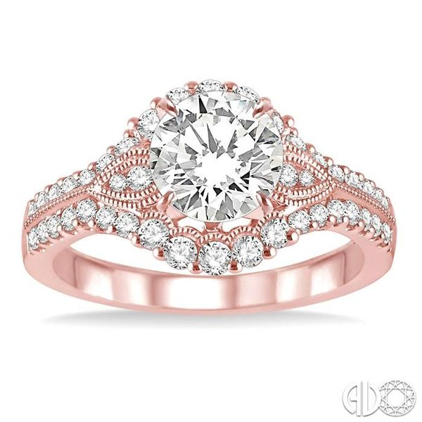 1/2 Ctw Diamond Semi-mount Engagement Ring in 14K Rose Gold Image 2 Becker's Jewelers Burlington, IA