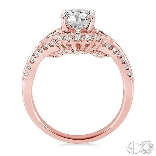 1/2 Ctw Diamond Semi-mount Engagement Ring in 14K Rose Gold Image 3 Becker's Jewelers Burlington, IA