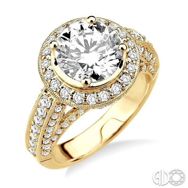 1 1/3 Ctw Diamond Semi-Mount Engagement Ring in 14K Yellow Gold Becker's Jewelers Burlington, IA