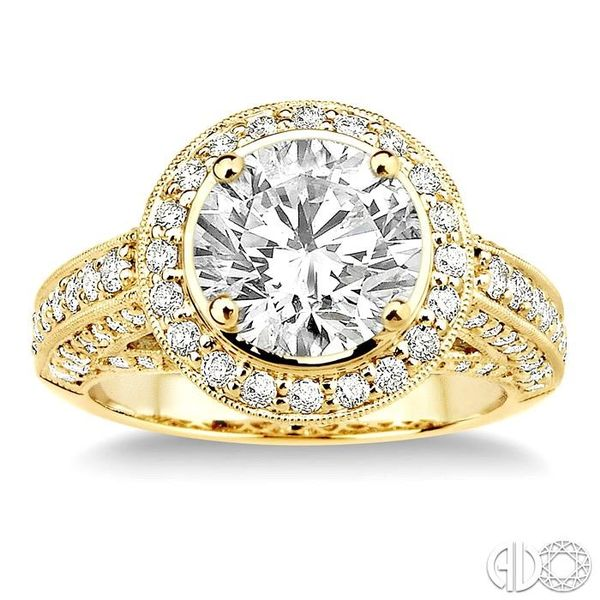 1 1/3 Ctw Diamond Semi-Mount Engagement Ring in 14K Yellow Gold Image 2 Becker's Jewelers Burlington, IA