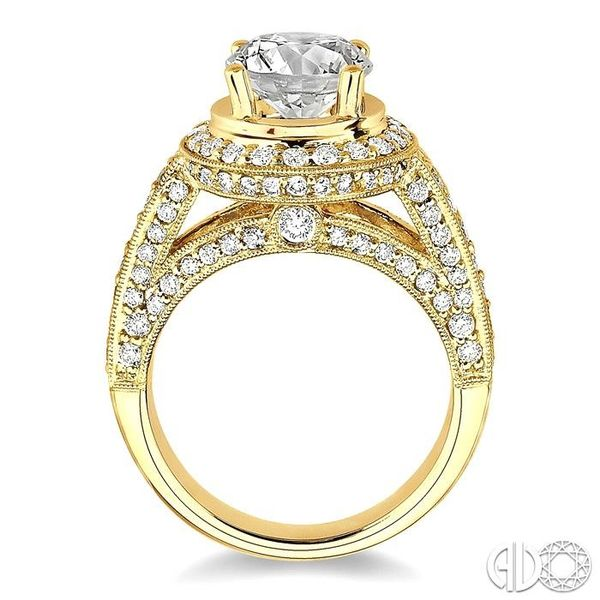 1 1/3 Ctw Diamond Semi-Mount Engagement Ring in 14K Yellow Gold Image 3 Becker's Jewelers Burlington, IA