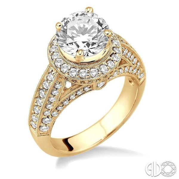 1 Ctw Diamond Semi-Mount Engagement Ring in 14K Yellow Gold Becker's Jewelers Burlington, IA