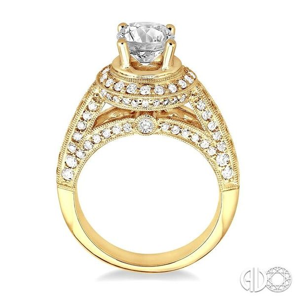 1 Ctw Diamond Semi-Mount Engagement Ring in 14K Yellow Gold Image 3 Becker's Jewelers Burlington, IA