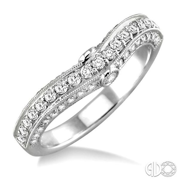 5/8 Ctw Diamond Matching Wedding Band in 14K White Gold Becker's Jewelers Burlington, IA
