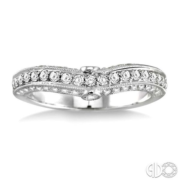 5/8 Ctw Diamond Matching Wedding Band in 14K White Gold Image 2 Becker's Jewelers Burlington, IA