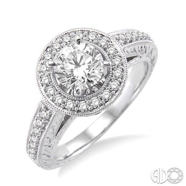 1/3 Ctw Round Cut Diamond Semi-Mount Engagement Ring in 14K White Gold Becker's Jewelers Burlington, IA