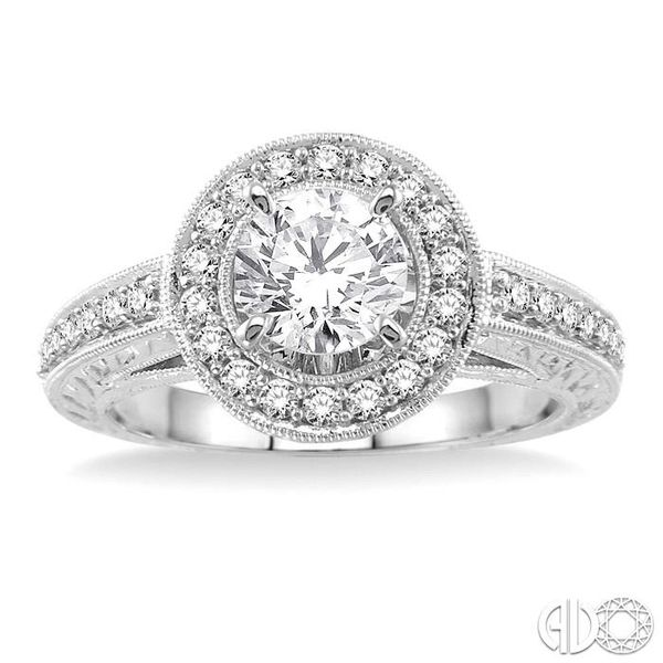 1/3 Ctw Round Cut Diamond Semi-Mount Engagement Ring in 14K White Gold Image 2 Becker's Jewelers Burlington, IA