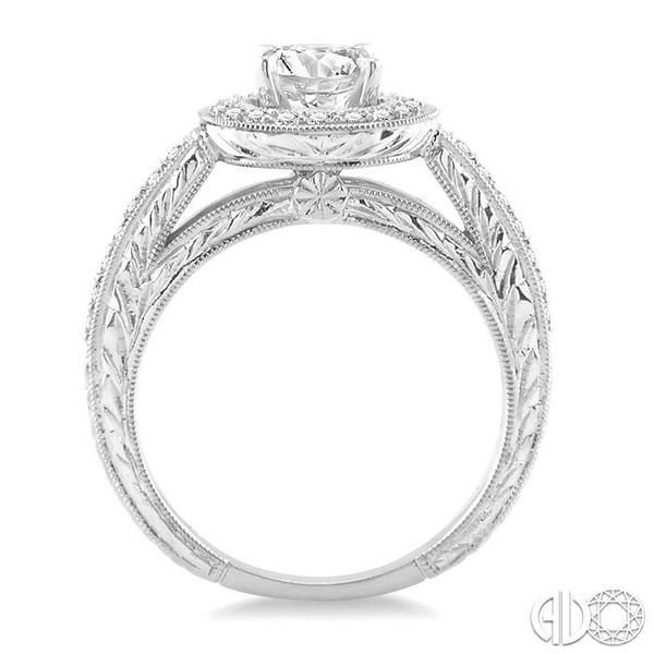 1/3 Ctw Round Cut Diamond Semi-Mount Engagement Ring in 14K White Gold Image 3 Becker's Jewelers Burlington, IA