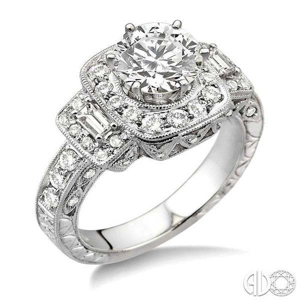 1 Ctw Diamond Semi-Mount Engagement Ring in 14K White Gold Becker's Jewelers Burlington, IA