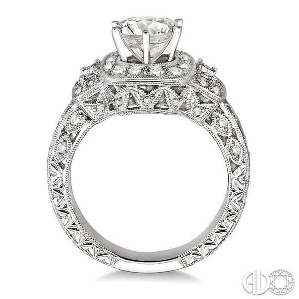 1 Ctw Diamond Semi-Mount Engagement Ring in 14K White Gold Image 3 Becker's Jewelers Burlington, IA