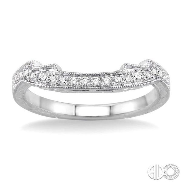 1/5 Ctw Diamond Wedding Band in 14K White Gold Image 2 Becker's Jewelers Burlington, IA