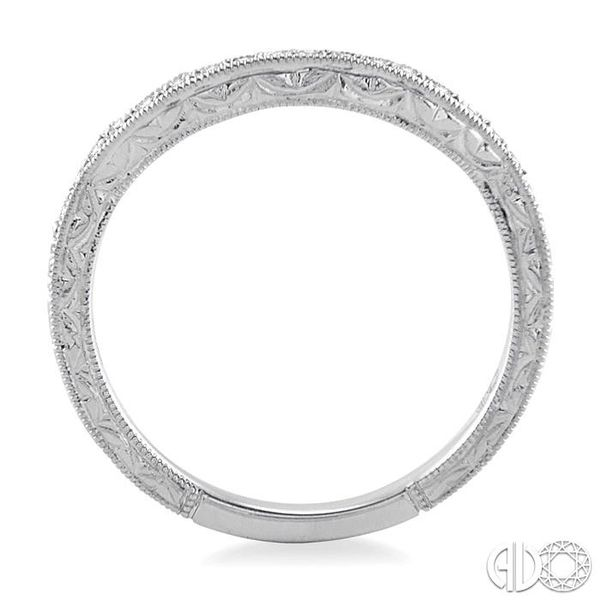 1/5 Ctw Diamond Wedding Band in 14K White Gold Image 3 Becker's Jewelers Burlington, IA