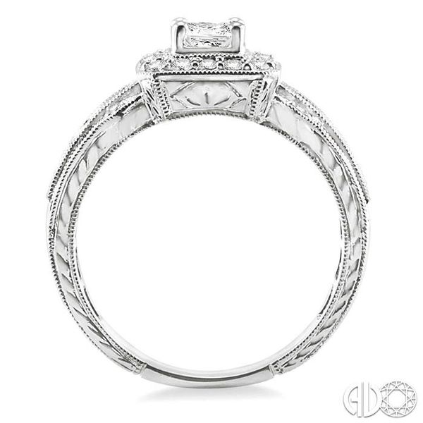 1/2 Ctw Diamond Semi-Mount Engagement Ring in 14K White Gold Image 3 Becker's Jewelers Burlington, IA