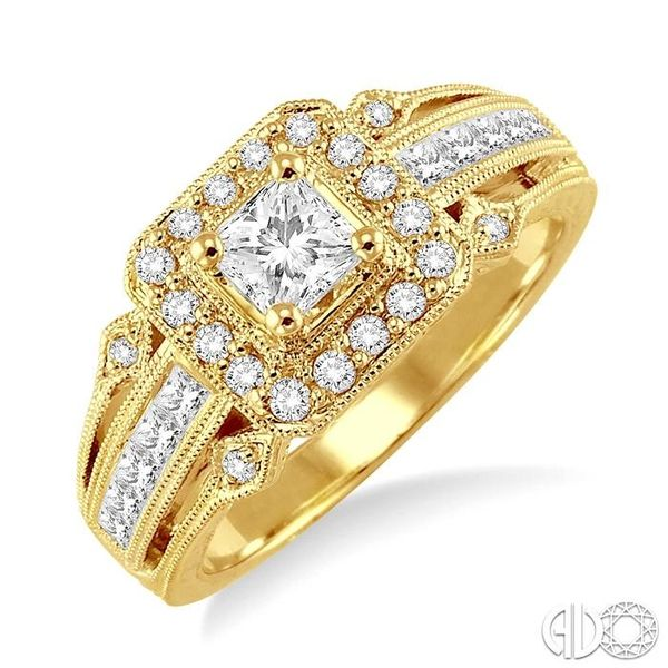 1/2 Ctw Diamond Semi-Mount Engagement Ring in 14K Yellow Gold Becker's Jewelers Burlington, IA